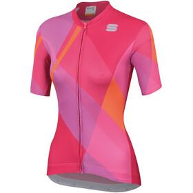 Sportful Aurora Fietsshirt korte mouwen Dames roze